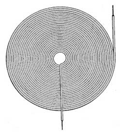 Flat spiral coil inductor example