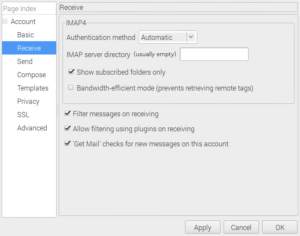 Claw mail receive configuration