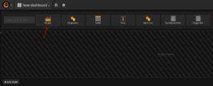 Grafana create new dashboard
