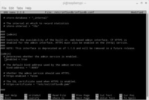 InfluxDB config admin access