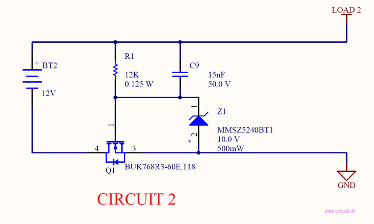 Circuit 2 Reverse Battery Protection P Mosfet Circuits