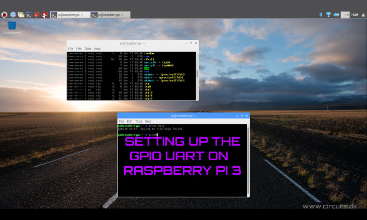 How to setup UART on the Raspberry Pi 3 GPIO